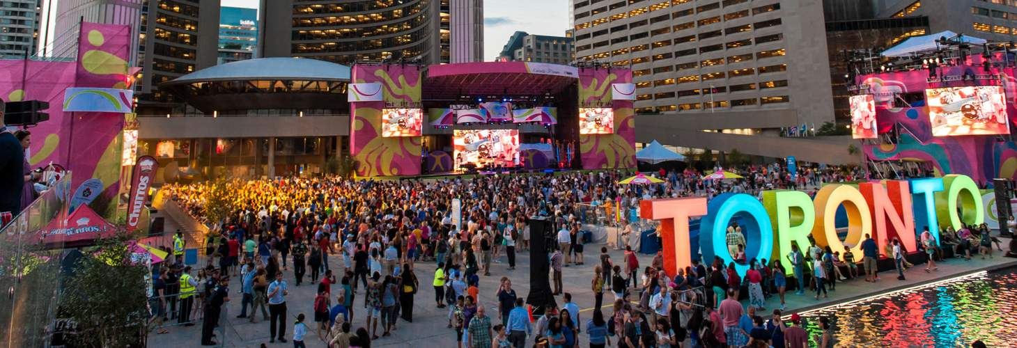 Pan Am Games Crowd at Toronto City Hall
