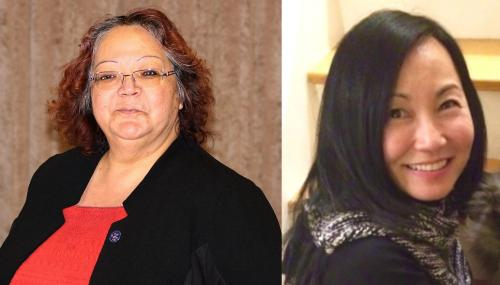 Councillor Veronica King-Jamieson (Mississaugas of the Credit First Nation) & Professor Sherry Fukuzawa