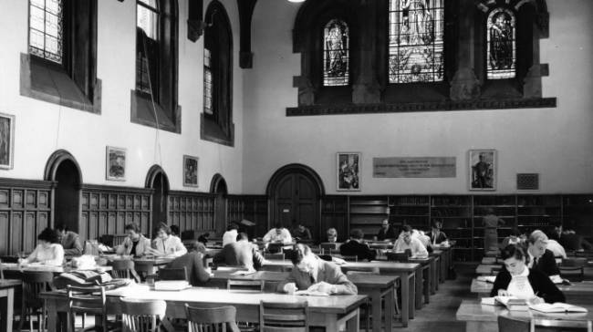 Archival image of east hall