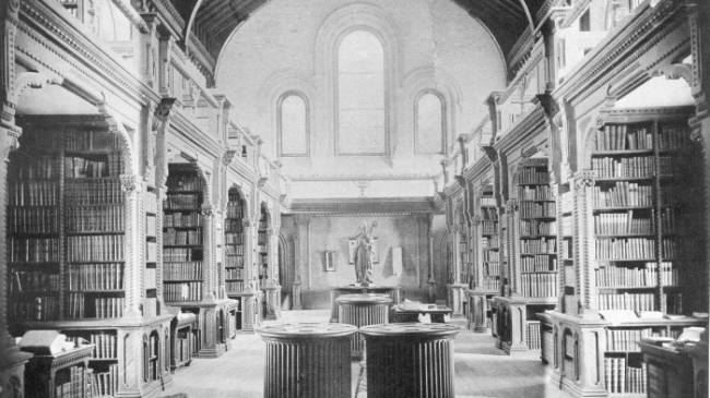 Archival image of Library in 1890