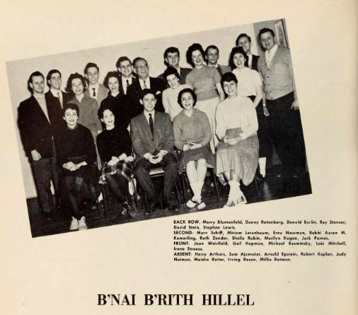 About 20 members of B'nai B'rith Hillel